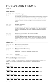 Project Resume Example by Portfolio Manager Resume Samples Visualcv Resume Samples Database