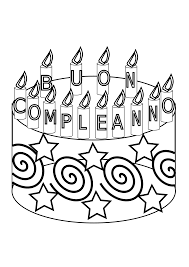 buon compleanno happy birthday cake october 2011 openclipart org