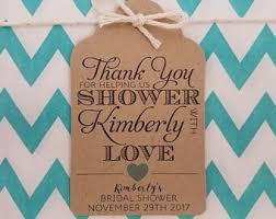bridal shower favor tags bridal shower favor tags etsy