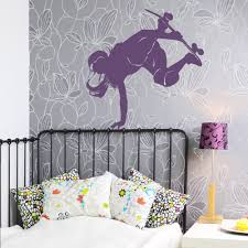 Wall Art Stickers And Decals by Female Skateboarder Wall Art Decal