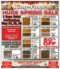 king of floors announces sale