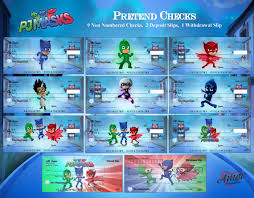 pj masks pretend play checks amorprintables etsy kids play