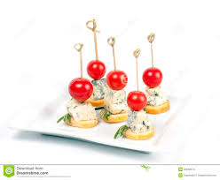 canap au fromage canapes de fromage avec des tomates cerises photo stock image du