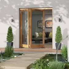 Wooden Bifold Patio Doors by Oak Wood Door Diy