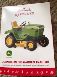 hallmark keepsake ornament 2016 deere 318 garden tractor ebay