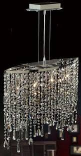 linear strand crystal chandelier contemporary kitchen marla island