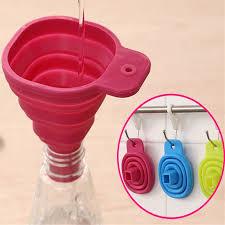entonnoir de cuisine silicone trémie pliable liquide utilisé de remplissage gel entonnoir