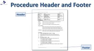 standard operating procedure template business improvement
