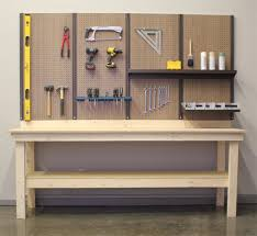 workbench with pegboard and light 8 x 4 workbench kit shorewall systems