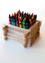 Desk Organiser For Kids Popsicle Stick Desk Organiser
