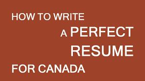 resume for employment in canada basic info lp group youtube