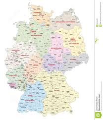 Map Og Germany by Administrative Map Of Germany Stock Illustration Image 42361877