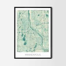 Minneapolis Map Usa by Minneapolis Gift Map Art Prints And Posters Home Decor Gifts