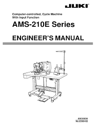 instruction manual juki ams 210e sewing machine