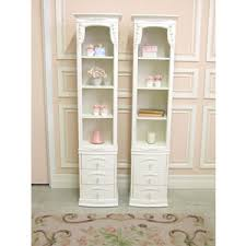 sold6780 white rose narrow bookcases with drawers 725 p
