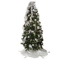 simplicitree 7 1 2 prelit pre decorated tree w