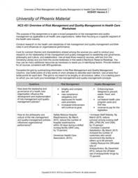 451 overview of risk management and quality management in health