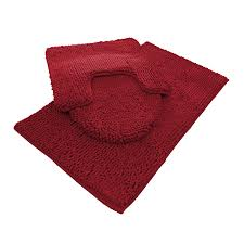 Red Bathroom Rugs Sets by Chenille Bath Mat Rug Set 100 Microfiber Noodle Bathroom Mat