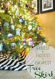 easiest fastest cheapest tree skirt use 1 5 yd of