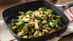 michael symon s brussels sprouts with walnuts and capers