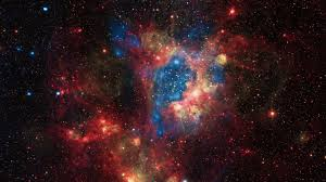 download hd space universe stars nebula in red yellow and