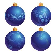 blue tree decoration balls vector freevectors net