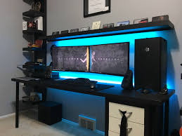 built in desk gaming and desks on pinterest my fall editinggaming