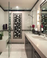 Bathroom Tile Mosaic Ideas Tile Mosaic Designs Bathroom Contemporary With Black And White