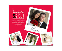 remerciement mariage photo carte de remerciement de mariage magnétique à personnaliser