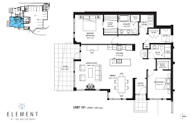 floor layouts element at the waterfront floor plans vancouver island