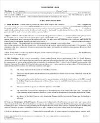 sample commercial lease agreement in pdf 10 examples in word pdf