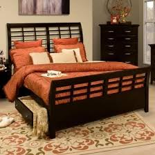 Black Sleigh Bed Melrose Wk Eastern King Sleigh Bed In Rubbed Black Finish