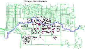 Michigan State University Map by Effects Of Land Use Within The Msu Watershed On The Water Quality
