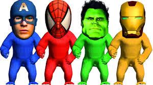 Halloween Costumes Superheros Gorilla Superheros Face Spiderman Captain America Finger Family