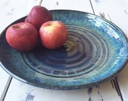 ceramic serving platter platters etsy