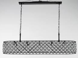 Rectangular Iron Chandelier Am6020 Elongated Horizontal Rectangular Iron Grid Chandelier 20