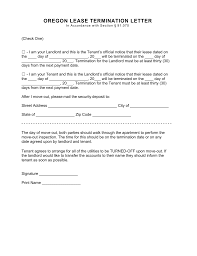 Legal Notice Letter by Oregon Lease Termination Letter Template 30 Day Notice Eforms