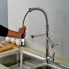 best quality chrome finish solid brass water power kitchen faucet