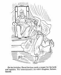 birth of jesus coloring page the daughter of herodias dances for herod matthew 14 mark 6
