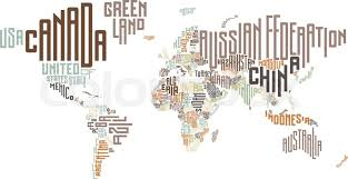 world map with country names image world map made of typographic country names vector illustration