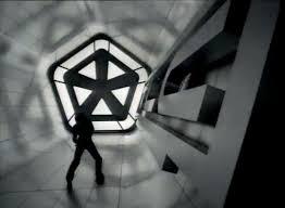 the futuristic architecture of 90s music videos