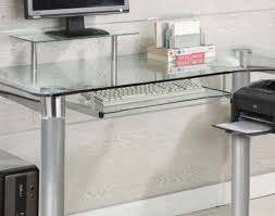 Wood Computer Desk For Home Desk Decor Stunning Office Design Using Chic Glass Computer Desk
