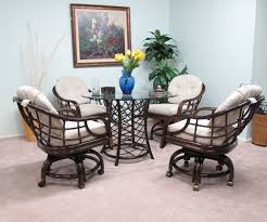 Rattan Dining Room Set Dining Room Chairs With Casters Home Design Ideas