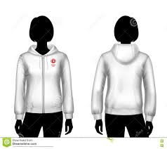 women hooded sweatshirt template stock vector image 74914772