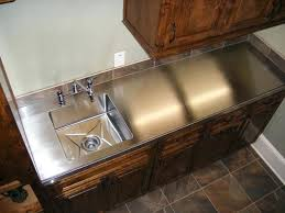 stainless steel countertop with built in sink stainless steel countertop with sink studiiburse info