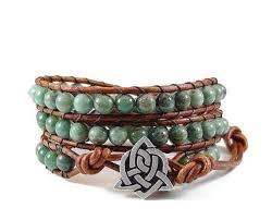 beaded bracelet leather images African jade leather wrap bracelet beaded bracelet wrap bracelet jpg