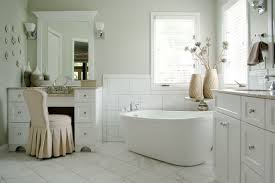 Bathroom With Two Separate Vanities by Serene Bathroom With Freestanding Tub Robin U0027s Nest Interiors