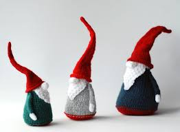 3 gnomes pdf knitting patterns christmas ornament new year