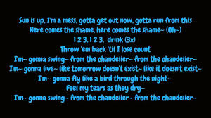 Gonna Swing From The Chandelier Sia Chandelier Lyrics Hd Youtube