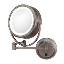 Wall Mounted Mirror With Lights Led Lighted Mirrors By Aptations Kimball U0026 Young